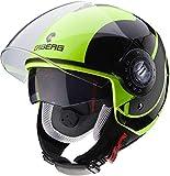 Caberg Riviera Sway Flo urlo casco nero moto Taglia XS
