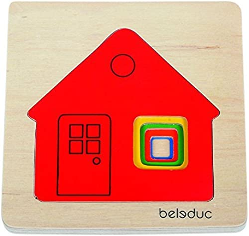 productos creativos Hape - - - Beleduc - Cottage 5-Piece Layer Puzzle by Beleduc  ventas de salida