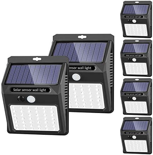 Solar Lights Outdoor 42 LED 3 Working Mode SEZAC Solar Security Lights Solar Motion Sensor Lights product image