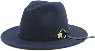 SHENTIANWEI Winter Fedora Hat for Men Women Outdoor Travel Casual Church Hat Pop Wide Brim Hat Adult Jazz Hat Size 56-58CM
