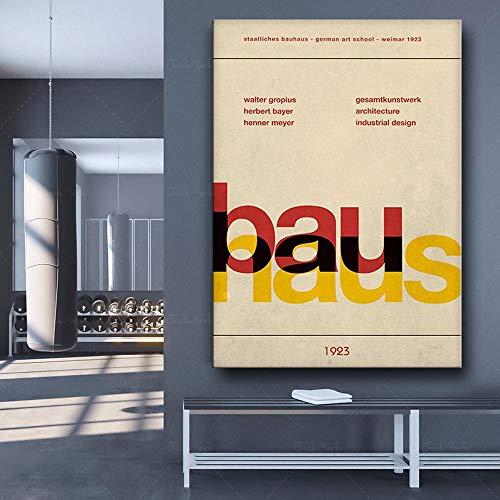LYFCV Bauhaus-Plakat, Weimar 1923, Bauhaus-Ausstellungsdruck, Herbert Bayer-Druck Bauhaus-DruckWillster Henri Mattion-Druck 50X70cm 20x28 Zoll ohne Rahmen