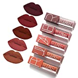 5 Colors Matte Lipstick Set, FOXTSPORT Super Stay Pintalabios Mate...