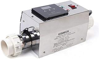 Calefactor eléctrico para piscina, 3000 W, 220 V, calefactor de piscina, termostato, calefactor de acero inoxidable, intercambiador de calor