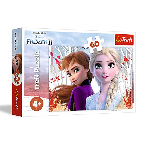 Disney- Anna und Elsa Puzle, Color Coloreado (Trefl 5900511173338)