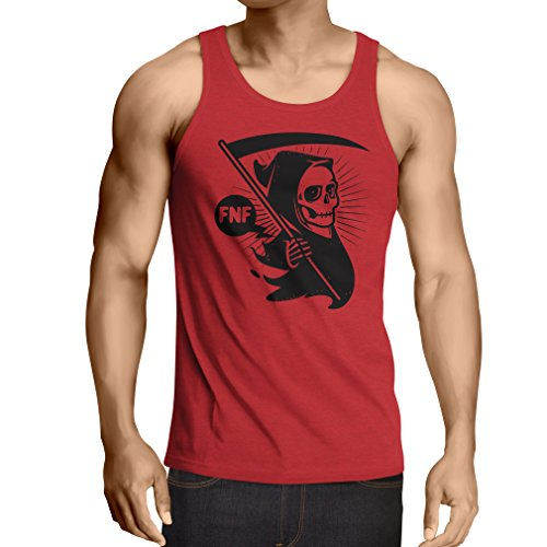 lepni.me Camisetas de Tirantes para Hombre Muerte (Large Rojo Multicolor)
