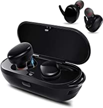 Supkiir True Wireless Headphones Bluetooth Headphones Waterproof Earbuds with Portable Charger Built-in Mic