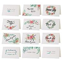 Kesote 感謝カード 48枚 感謝祭 感謝の日 ありがとう メッセージカード 封筒付き 封筒テープ付き 母の日プレゼント 父の日ギフト