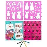 Eurowebb - Cuaderno de moda con pegatinas para niños, diseño de uñas