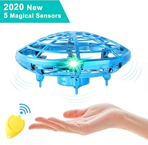 semai UFO Drohne, UFO Flying Ball, Kinder Mini Drohne, Fliegender Ball Handsteuerung, Flugzeuge Spielzeug, Hubschrauber Quadrocopter mit 360°Rotierenden und LED-Leuchten, Geschenke für Jungen Mädchen