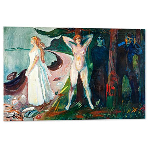 Kuader Le Femme Fatales Edvard Munch - 100 x 70 cm