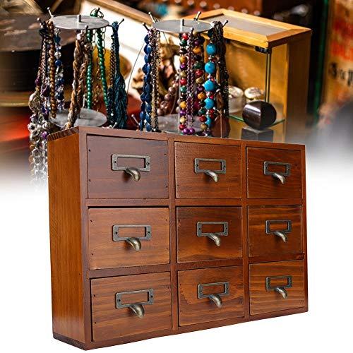 Caja vintage, baúl de almacenamiento de madera decorativo, cajón vintage Caja de...