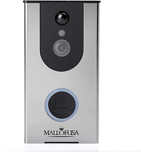 popular Mallofusa WIFI discount Video Doorbell, Smart Camera discount Doorbell 720P,8G Storage, Two-Way Talk, Night Vision, PIR Motion Detection and App Control Compatible for iOS and Android online sale
