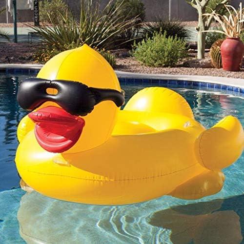 TGDY Aufblasbarer Pool schwimmender Riese, gelbe Ente Giant Unicorn Pool Float, aufblasbares Flo ommer-Swimmingpool-Liegestühle Strandschwimmer und Liegestühle für Erwachsene und Kinder,Yellow