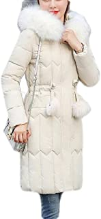 Macondoo Womens Cotton-Padded Hoodie Jacket Quilted Outwear Puffer Down Coats