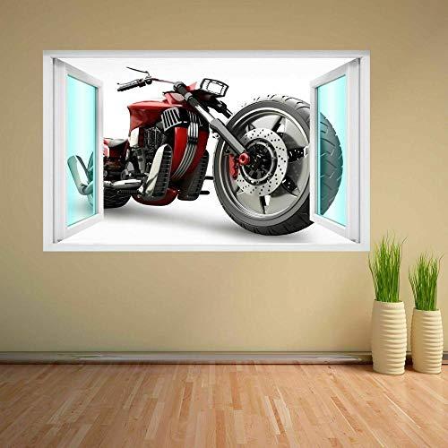 Wandtattoo Motorcycle Mural Decal Kids Bedroom Home Office Nursery Decor DC36