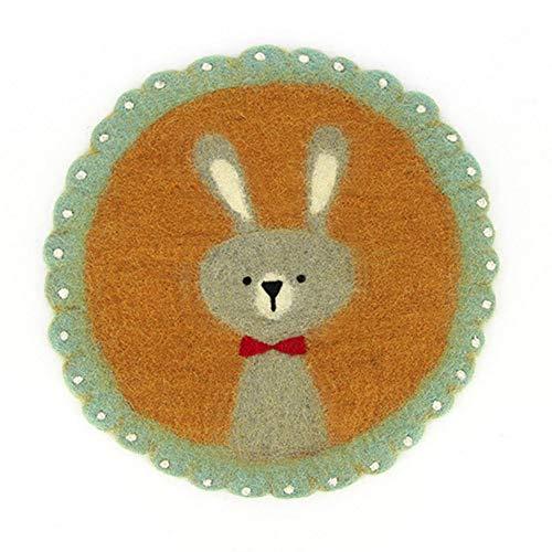 Juego de mesa, alfombrilla de asiento, diseño de conejo de Pascua