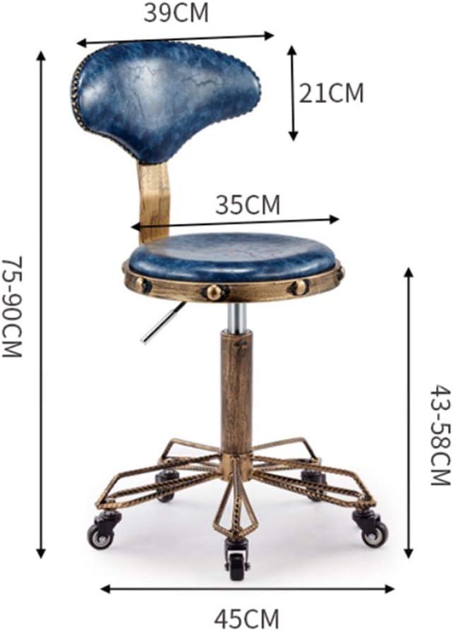 DLMPT Chaise De Bureau À roulettes Hauteur Réglable Hauteur Réglable Siège avec Dossier Cuir Synthétique Chaise De Bureau Pivotante pour Maison Et Bureau,Marron Dark Brown