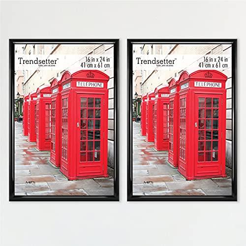 MCS Trendsetter Poster Frame Back-Loading Wall Art & Puzzle Frame, 16 x 24 Inch, Black, 2 Pack