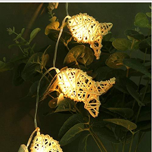 Natürliche Rattan Fisch Lichterkette führte 4M 20 LEDs, Fairy Party Hochzeit/Weihnachtsdekor, Schlafzimmer Nachtlicht führte nach Hause Raumdekoration