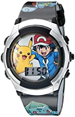 FLASHING LED LIGHTS: Press the top right button of the watch to activate a cool light show on the dial. POKEMON WATCH: Children's watch has large well known Pokémon characters on the dial, every kid will love. NON-TOXIC & SAFE: Every Pokémon watch is...