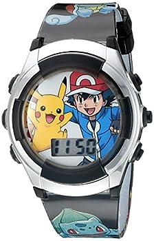 Pokémon Kid s Quartz Watch with Plastic Strap Black 16  Model  POK3018