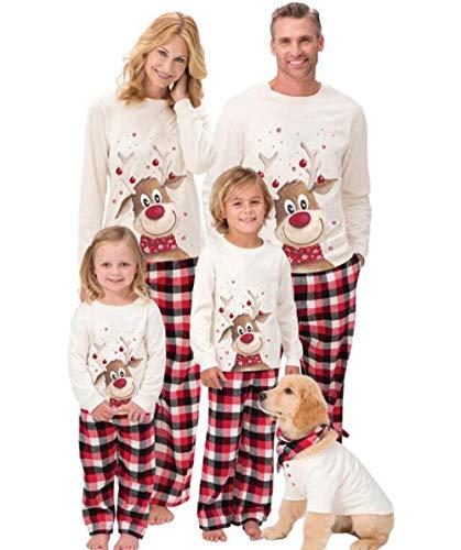 beautyjourney Famiglia Pigiami Natale Pigiama Bambina Natale Maniche Lunghe Ragazzi Pigiama Donna Ragazze Uomo Due Pezzi...
