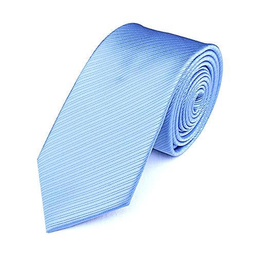 YDHG Corbata De Negocios 7cm El Trabajo Conjunto de Atado de Hielo Azul del Color sólido del Lazo de los Hombres de Negocios el Lugar de Trabajo Fiesta