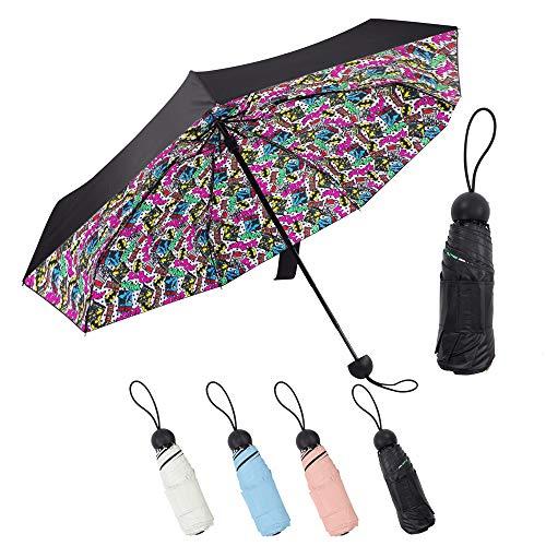 Lejorain Mini Best Lightweight Pocket Umbrella - Sun&Rain Umbrella - Small&Portable&UV Protection 50 (Pattern)