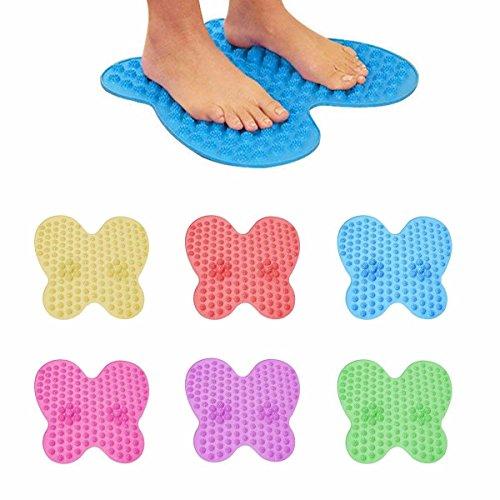 HK Home Wasbare Voet Pijn Relief Massage REFLEXOLOGY MAT -Shiatsu, Acupressuur Punten & LED Sleutelhanger Licht