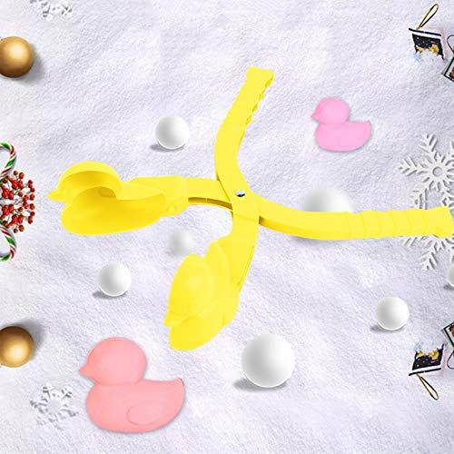 757 Winter Schneeball Maker Spielzeug, Schneeballzangen für Kleine Ente Schneebälle, Schneeball Former, Schneeballpresse, Edealing Perfect Outdoor Play Schnee Spielzeug für Kinder