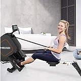 FYYDNR Rudergerät, Fitness-Level Widerstand Rudergerät Rower Unabhängige Arme Große Fußplatten mit Gurt 199 * 53 * 87cm - 3