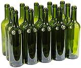 Weinflasche 750 ml ohne/mit Korken Glasflasche Leere Flasche Likör Wein 3 Farben (24 STK. ohne...