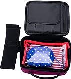 メイクボックス 化粧箱 高品質 多機能 多容量 スペースを節約するための小型 化粧ポーチ 持ち運び メイクBOX メイクアップ トラベルバッグ ポータブル (ピンク)