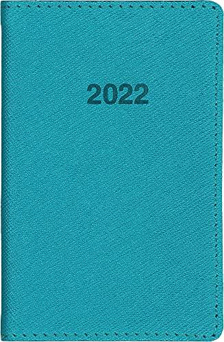 博文館新社 手帳 2022年 ミニ手帳 ターコイズ No.777 (2022年 1月始まり)