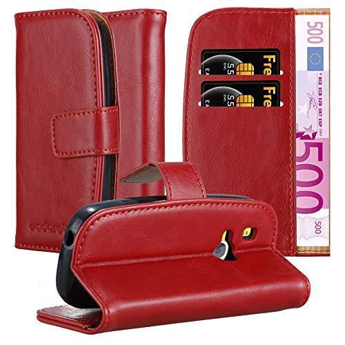 Cadorabo Hülle für Nokia 3310 in Wein ROT – Handyhülle mit Magnetverschluss, Standfunktion & Kartenfach – Hülle Cover Schutzhülle Etui Tasche Book Klapp Style
