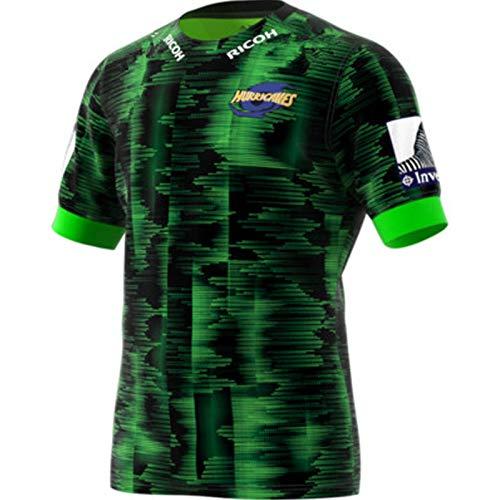 Camiseta de fútbol americano 2020 Huracanes Home Rugby Jersey de fitness manga corta entrenamiento camiseta profesional uniforme de equipo para actividades al aire libre ejercicio diario