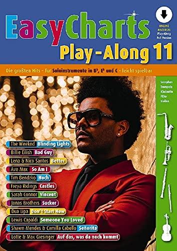 Easy Charts Playalong Band 11 (+Online Audio) für C/Eb/Bb-Instrument (mit Text) - Notenbuch mit Notenklammer