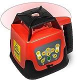 Nivel Láser Rojo Rotativo Autonivelante De Medición Automática Giratoria Haz Rojo Con Trípodes Con El Receptor De Control Remoto Estuche