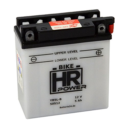 Motorrad Batterie Starterbatterie 12V 5Ah YB5L-B 50512