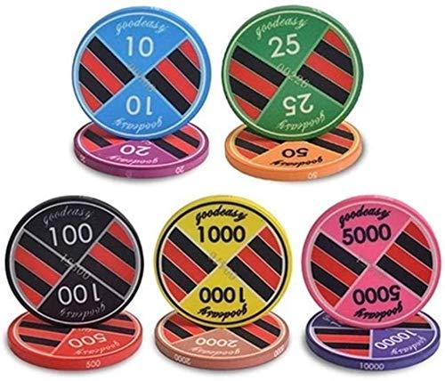 10 PCS / Lot Chips Ceramic Poker Casino Casino Chips Texas Hold'em Poker Club Chips Jugando Tarjetas Poker Chips 10G / PCS (Color: 100)