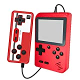 Handheld Game Console Retro Mini Game Player with 400 Classical FC Games Supporting 2 Players & TV Connection , Gift Birthday (Game Console Red)