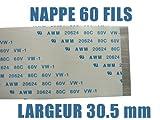 KALEA INFORMATIQUE–Cinta de Cable Plano Flexible 60Cables 150mm Longitud 30. mm ...