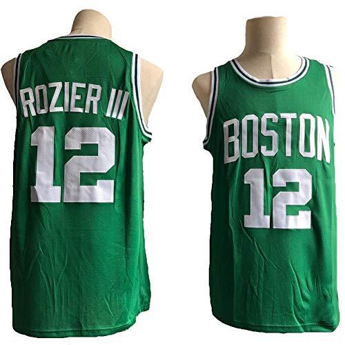 TPPHD Jerseys de Baloncesto de los Hombres, NBA Boston Celtics # 12 Rozier Classic Swingman Jersey, Tela Respiradora Fresca Vintage All-Star Unisex Fan Uniforme,Verde,XXL