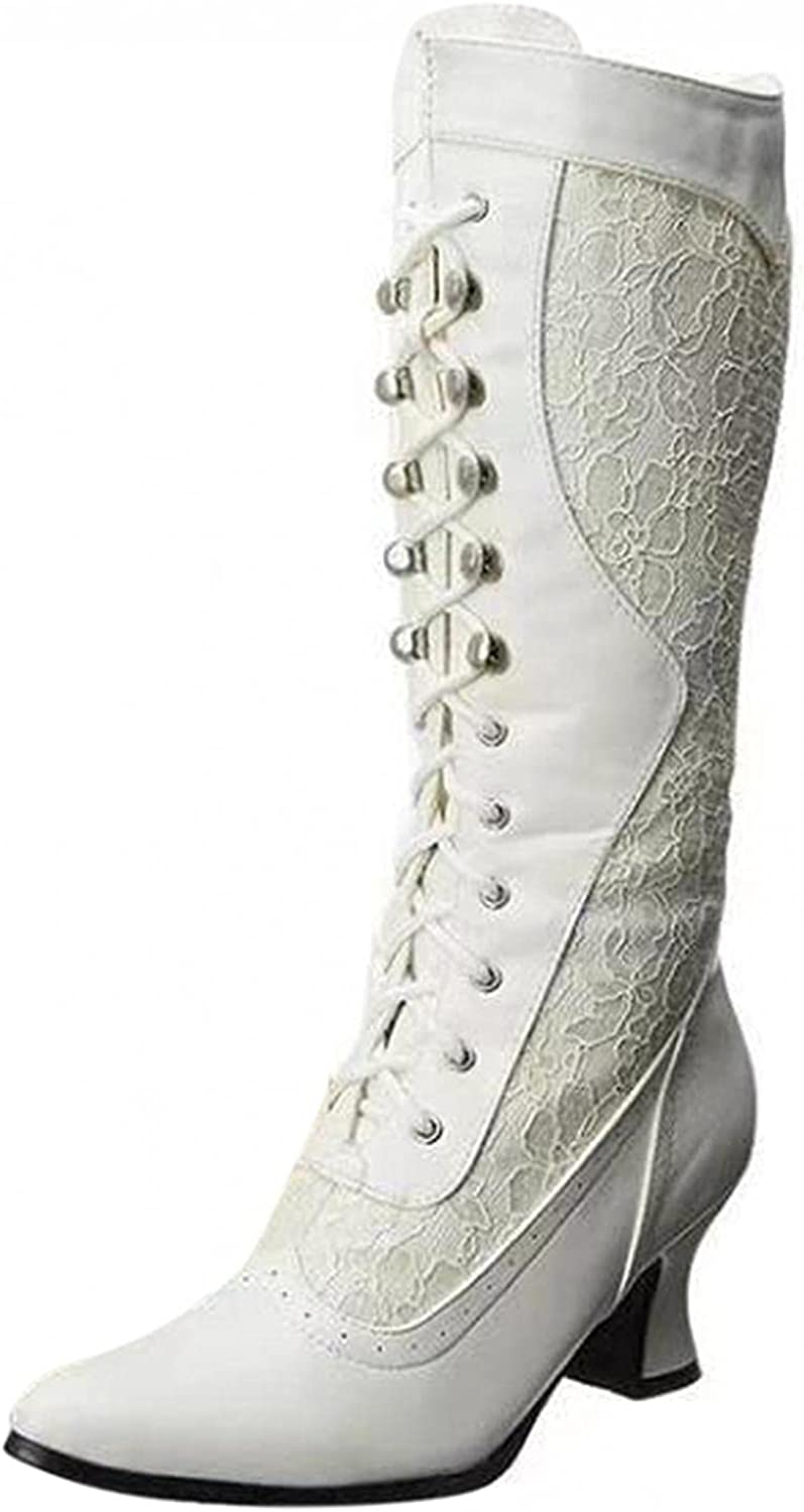 Eduavar Boots At the price for Max 42% OFF Women Womens Fashion Mid Pointed Up Toe Lace