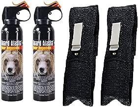 Guard Alaska (Pack of 2) 9 oz. Bear Spray Repellent Firemaster Canister & (Pack of 2) Pepper Enforcement Belt Clip Holsters