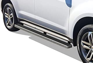 APS iBoard Running Boards 4 inches Custom Fit 2010-2017 Chevy Equinox & 2010-2017 GMC Terrain (Exclude Denali Models) (Nerf Bars Side Steps Side Bars)