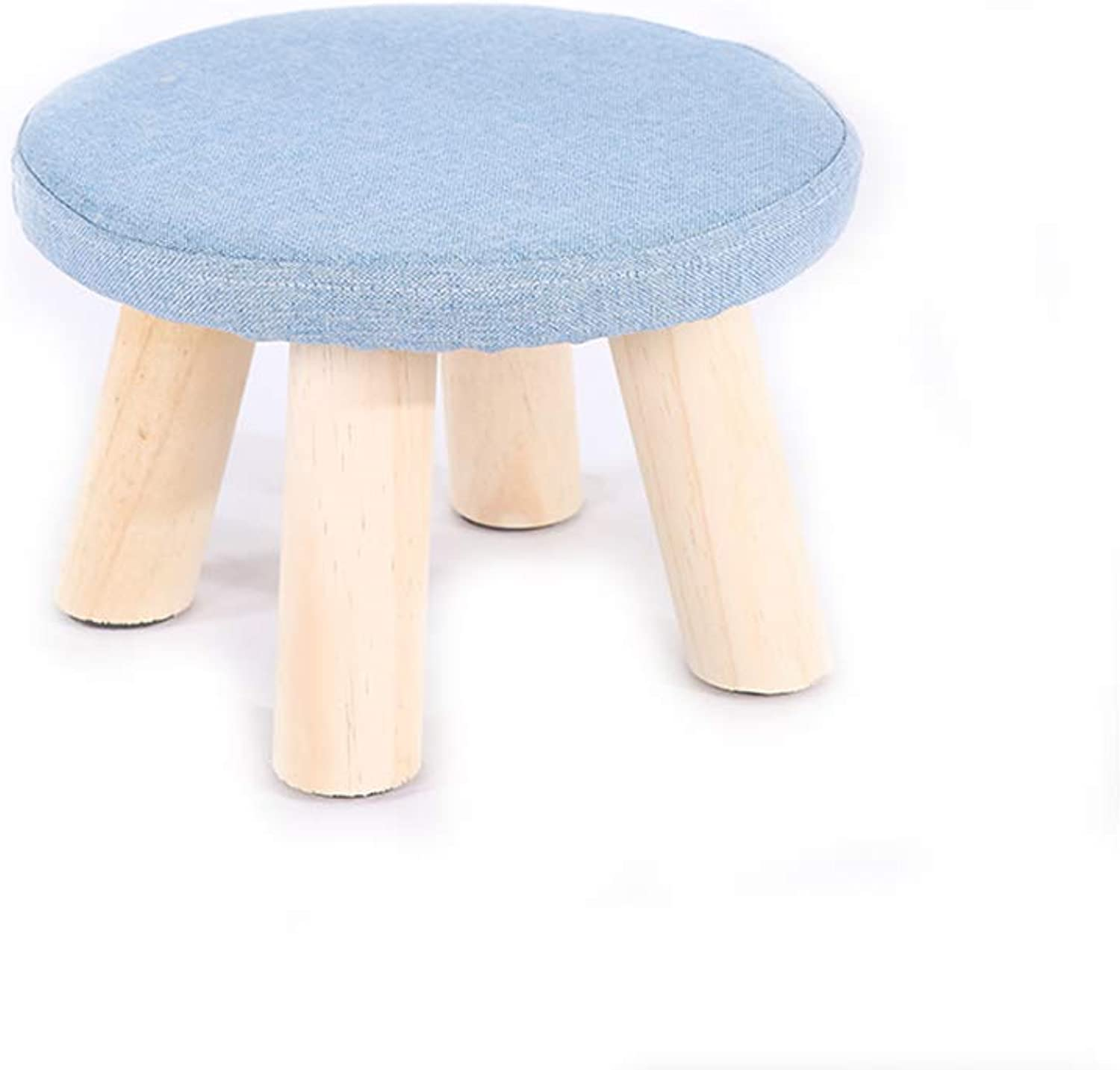 YQQ Solid Wood Round Stool, Change shoes Bench Sofa Stool Low Stool 28  20CM (color   1)