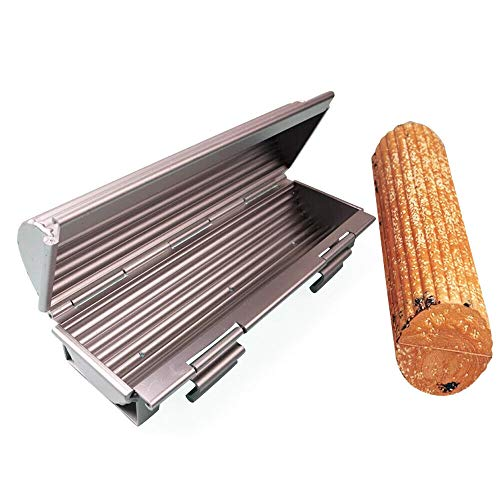 BTDH Aluminum Alloy Bread Loaf Pan Toast French Cake Round Toast Mold Non-Stick Round Cylinder Shape Toast Box DIY Bakery Length-12-inch Width-4.4inch