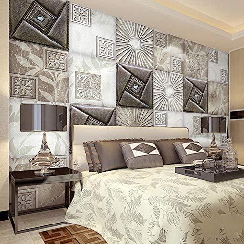 Papel Tapiz Mural De Pared Personalizado 3D Estéreo Suave Rollo Estilo Europeo Sala De Estar Sofá Hotel Fondo Revestimiento De Paredes Moderno,400(W)*280(H)Cm