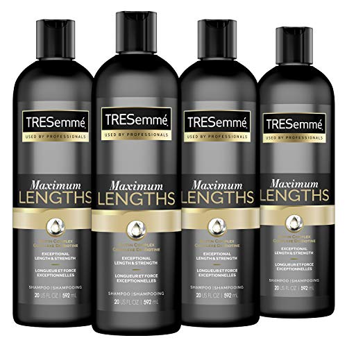 TRESemmé Shampoo Biotin for Dry Hair and Split Ends Max Lengths Sealing Split Ends 20 oz 4 Count